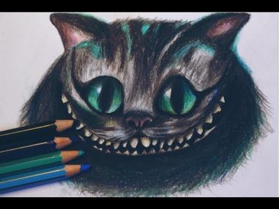Dibujando a Cheshire Cat con lápices de colores (Alice in Wonderland) - AILIPS