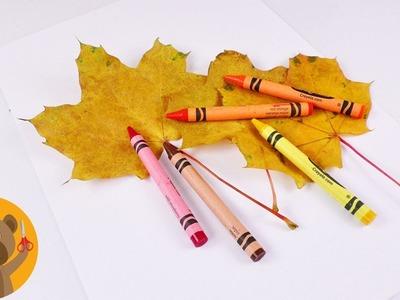 Idea de decoración y dibujo OTOÑO | Decoración con hojas secas | Tutorial