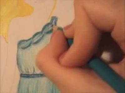 ❤Tutorial dibujar vestido de fiesta ~ TopModel❤