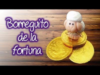 Borreguito de la Fortuna en pasta francesa , Lucky Lamb of cold porcelain