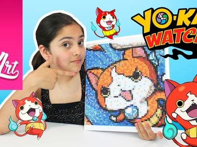 Como hacer a jibanyan de yokai watch en photoperls | manualidades yokai watch