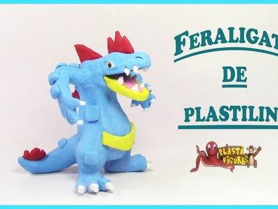 Como Hacer a Pokémon Feraligatr de Plastilina.Porcelana Fria.How to make Feraligatr with clay
