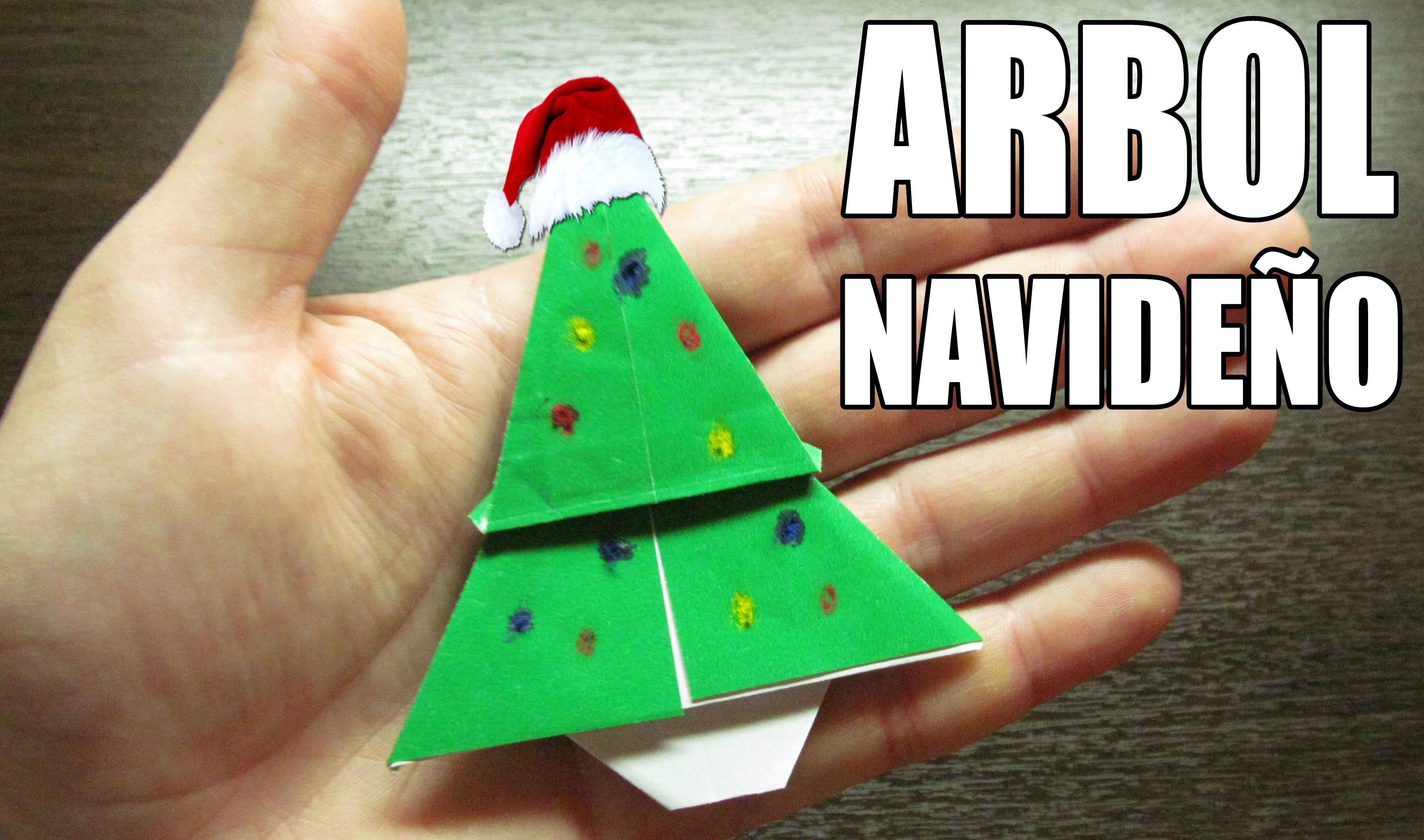 Como hacer un arbol de navidad super cool origami for Menu navideno facil de hacer