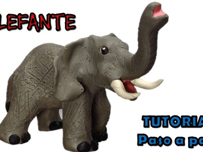 Como hacer un elefante de plastilina. How to make a clay elephant.