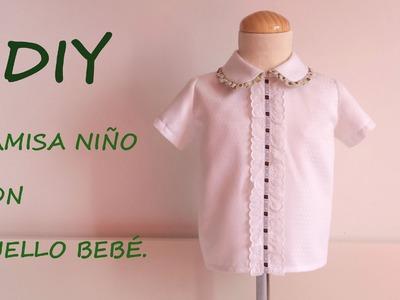 Como hacer una camisa de niño y cuello bebé con Gema de patronesmujer.com