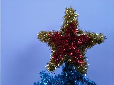 Como hacer una estrella con limpiapipas  (para el pino navideño)