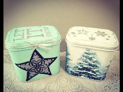 Cómo reciclar y decorar latas para Navidad - colaboración con la tienda de las manualidades