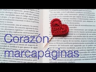 Corazón marcapáginas (versión para zurdos).