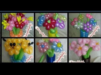 Flor fantasía de 6 petalos 6 estilos diferentes