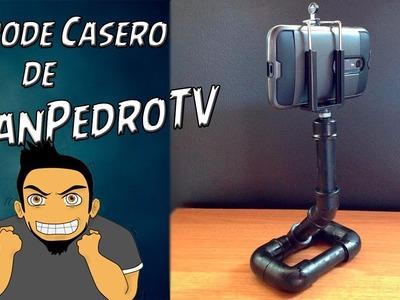 Haciendo el Tripode Casero de Celular PVC de JuanPedroTV