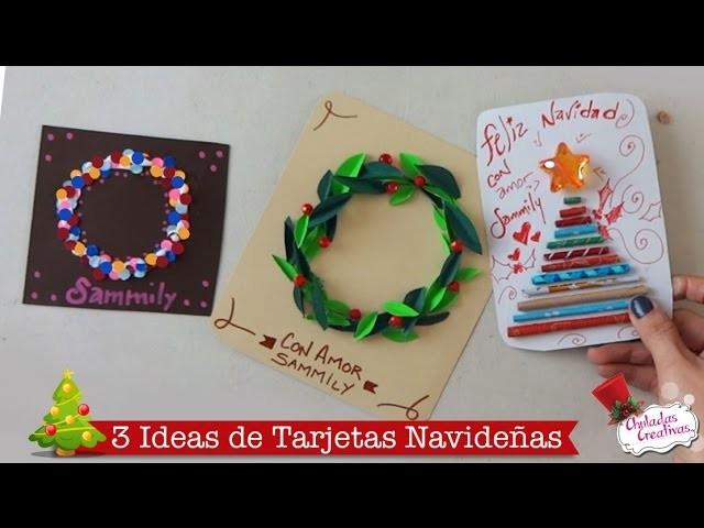Tarjetas fciles de Navidad Manualidades Navideas Chuladas
