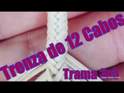 """Trenza de 12 (Trama 3x3)  """"El Rincón del Soguero"""""""