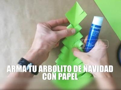 23-11-16 RED - ÁRBOL DE NAVIDAD HECHO CON PAPEL