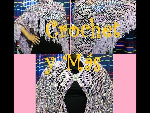 Chal en triangulo Rosita a Crochet