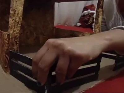 Como hacer nacimiento navideño de carton con iluminacion  (1ª parte)