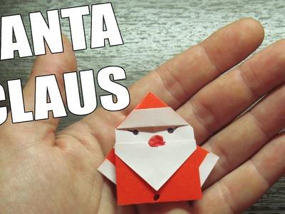 Como hacer un SANTA CLAUS Super Cool | Origamis de papel para NAVIDAD (Muy fácil)