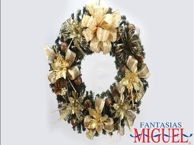 Corona Para Puerta De Nochebuenas