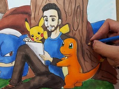 "Dibujando a ArteMaster ""Disney Style"" | Youtube Art Collaboration | Diana Díaz"