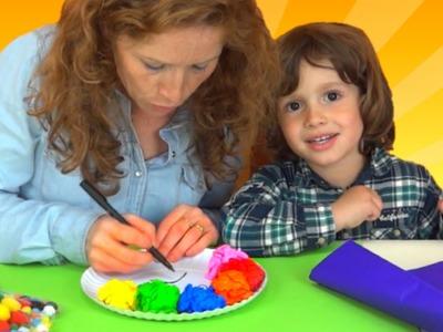 Juegos y juguetes de colores sorpresas y manualidades con  juguetes