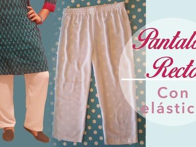 Pantalón recto con elástico ~Tutorial ~Patrones y costura.