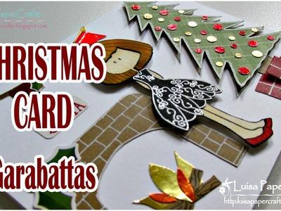 Tarjeta Fácil y Bonita de Navidad | Cómo hacer una tarjeta navideña | Tutorial DIY Luisa PaperCrafts