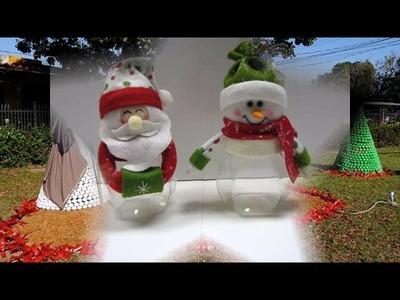 50 Ideas económicas para Decoracion de navidad con botellas plasticas