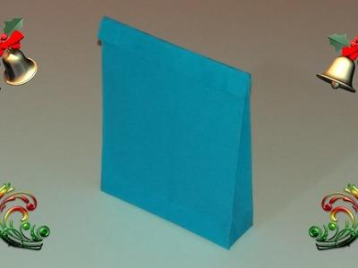 Como hacer bolsas de papel para regalo