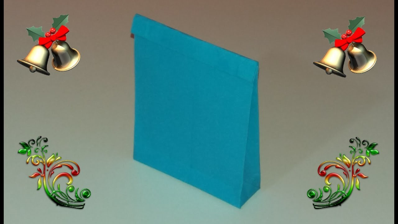 Como hacer bolsas de papel para regalo - Hacer bolsas de papel para regalo ...