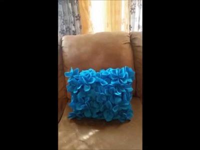 Como hacer un cojín con flores