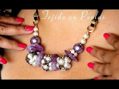 Como hacer un Collar con Tejido en Perlas : Pekas Creaciones
