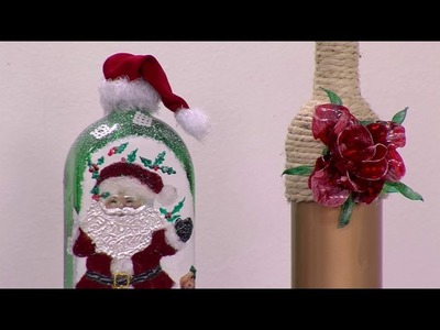 Còmo Hacer una Botella Navideña Decorada - Hogar Tv  por Juan Gonzalo Angel