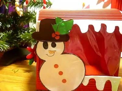 Decoraciones navideñas. buzón de santa
