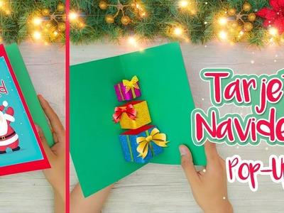 DIY: Tarjeta POP-UP regalos navideños - ESPECIAL DE NAVIDAD