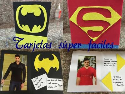 Dos tarjetas faciles y lindas para el superheroe de la casa Papa