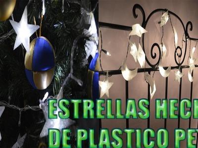 Estrellas NAVIDEÑAS Hechas Con Botellas De Plastico
