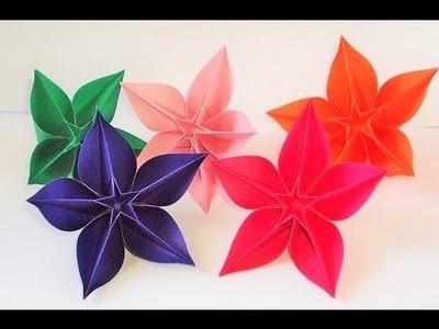 Flores de origami carambola - Como hacer flores de origami carambola