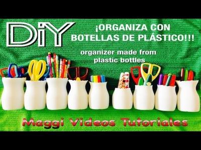 Organizador Con botellas Plásticas