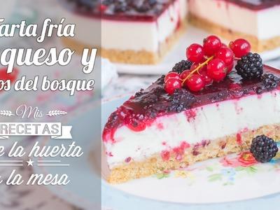 Tarta fría de queso y Frutos del bosque  | De la huerta a la mesa | Quiero Cupcakes!