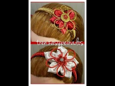 Vincha o Diadema de Navidad Para Niñas - Christmas headband for girls.