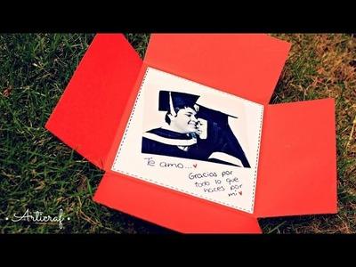 Carta. Tarjeta Cuadrada Para Mi Novio!! | Regalo Original