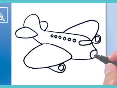 Cómo Dibujar Un Avión - How To Draw An Airplane | Dibujando