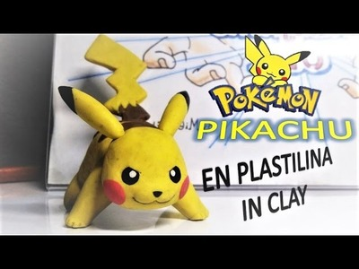 Como hacer a PIKACHU con plastilina. Tutorial How To Make POKEMON PIKACHU in clay. DibujAme Un
