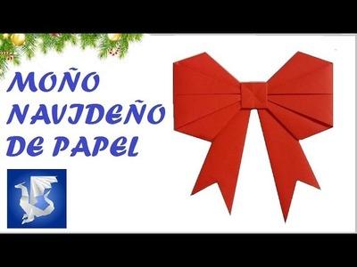 COMO HACER UN MOÑO DE PAPEL - How to make a paper bow