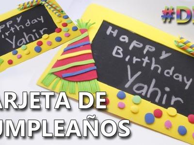COMO HACER UNA TARJETA DE CUMPLEAÑOS FÁCIL Y ORIGINAL | Tarjetas de cumpleaños