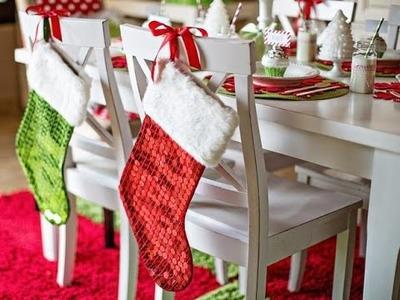 Decoración para navidad Sillas del Comedor - Ideas de Decoración 2016