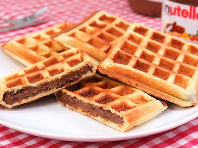 Gofres Rellenos de Nutella | Waffles