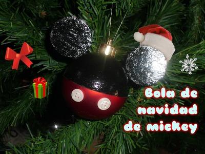 Manualidad: Bola de mickey navideña