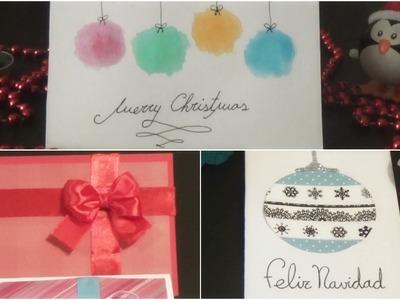 Tarjetas Navidad 3 Ideas Fáciles y Bonitas