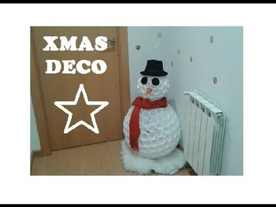 CHRISTMAS DECO! MUÑECO DE NIEVE NAVIDEÑO