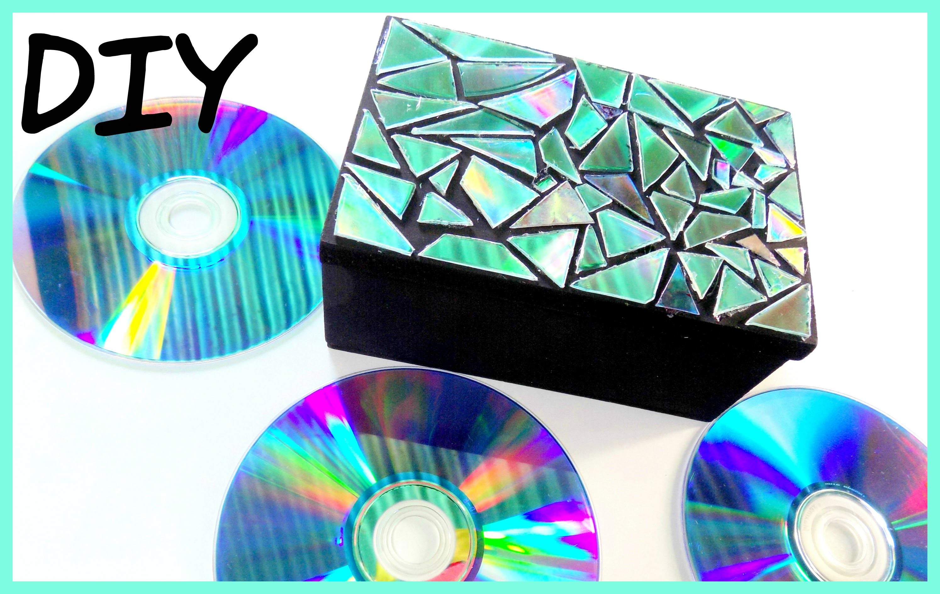 Cofre decorado con CD reciclado | Consejitos Express ♥L.C.M ♥